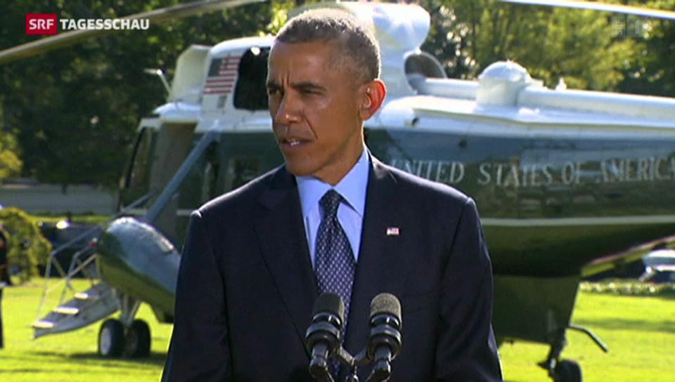 Obama zu den Luftangriffen
