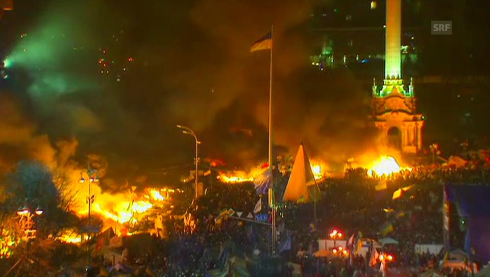 Protestcamp in Kiew in Flammen (unkomm.)