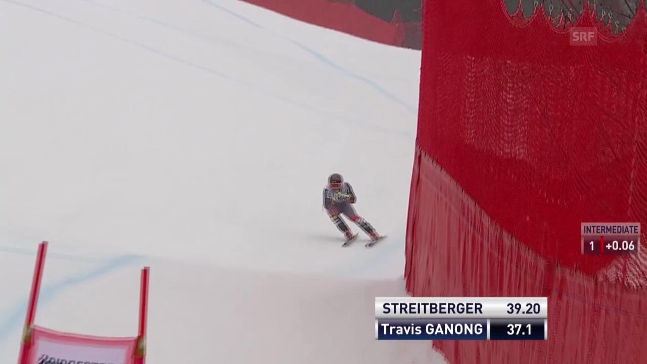 Ski: Weltcup Kvitfjell, Fahrt von Ganong