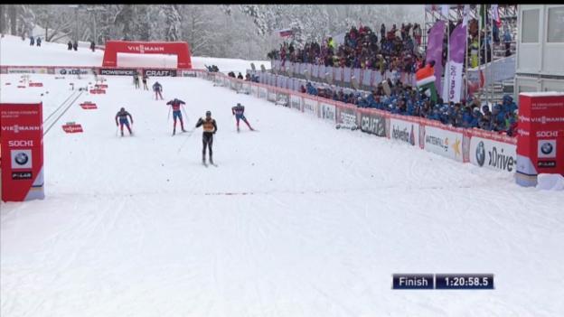 Video «Langlauf: Colognas Sieg in Sotschi («sportlive»)» abspielen