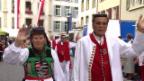 Video ««Potzmusig unterwegs» – Festumzug am Eidgenössischen Volksmusikfest in Aarau» abspielen