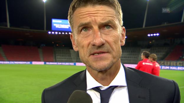 Video «Fussball: Interview mit Urs Meier nach FCZ-Minsk» abspielen