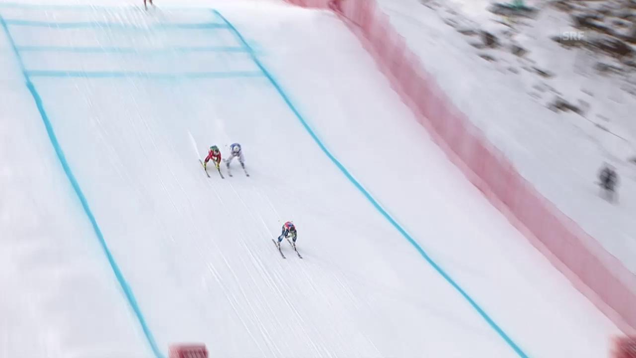 Freestyle-WM in Kreischberg: Skicross Männer, Viertelfinal mit Armin Niederer