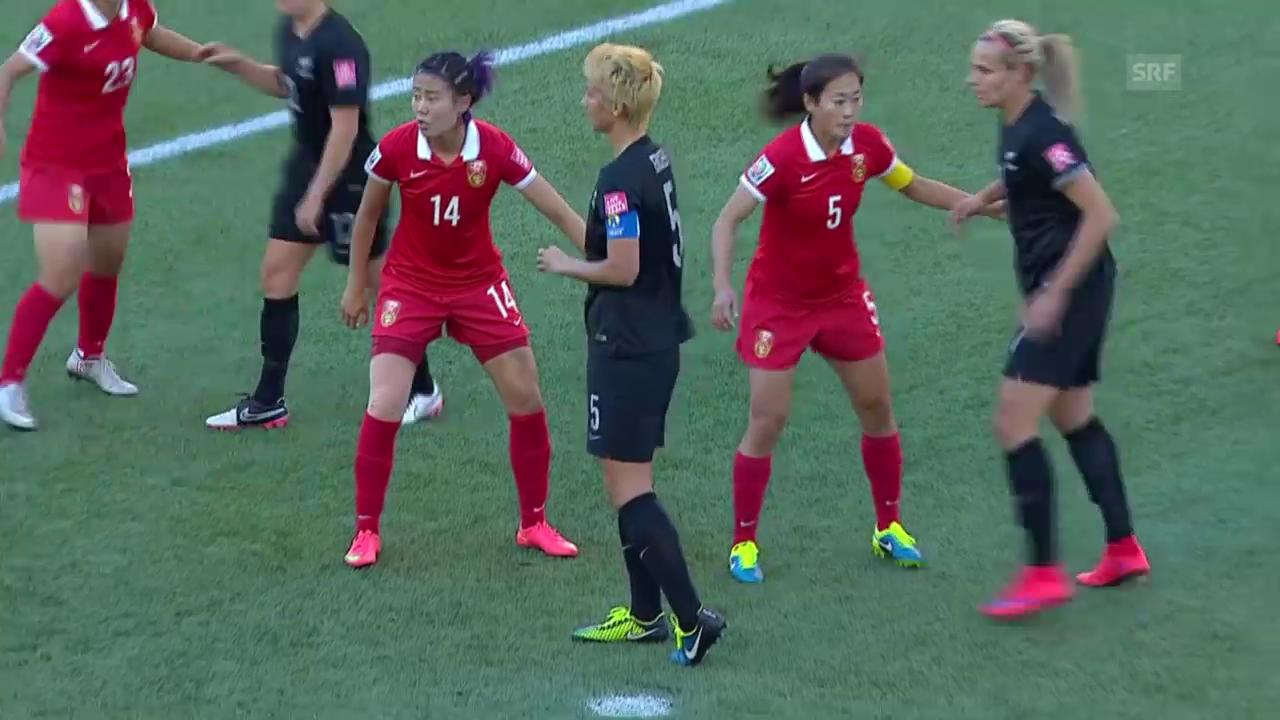 Fussball: Frauen-WM, Spielbericht China - Neuseeland