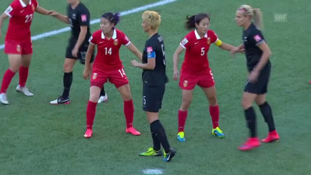 Video «Fussball: Frauen-WM, Spielbericht China - Neuseeland» abspielen