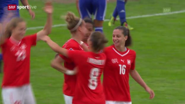 Video «Fussball: WM-Quali der Frauen, Schweiz gegen Israel» abspielen