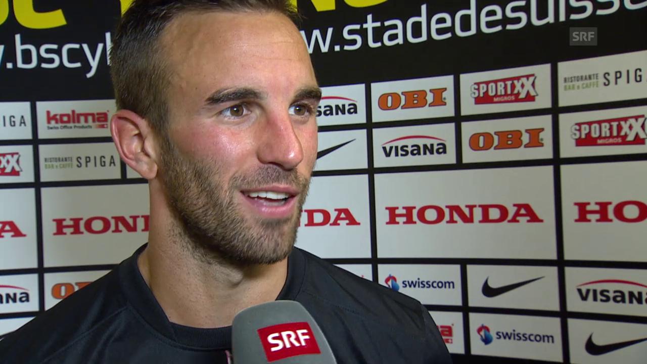 Fussball: Champions League, YB-Monaco, Interview mit Scott Sutter