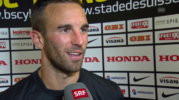 Video «Fussball: Champions League, YB-Monaco, Interview mit Scott Sutter» abspielen