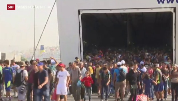 Video «Flüchtlingsstrom reisst nicht ab» abspielen
