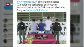 Video «Schweizer Journalist in Venezuela verhaftet» abspielen