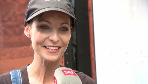 Video «Anita Buri für einmal ohne grosse Worte» abspielen