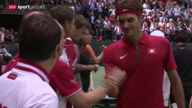 Video «Tennis: Davis Cup, Schweiz - Niederlande» abspielen