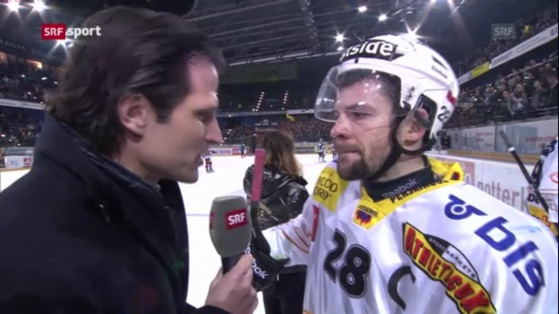 Video «Eishockey: Stimmen zu Zug - Bern («sportaktuell»)» abspielen