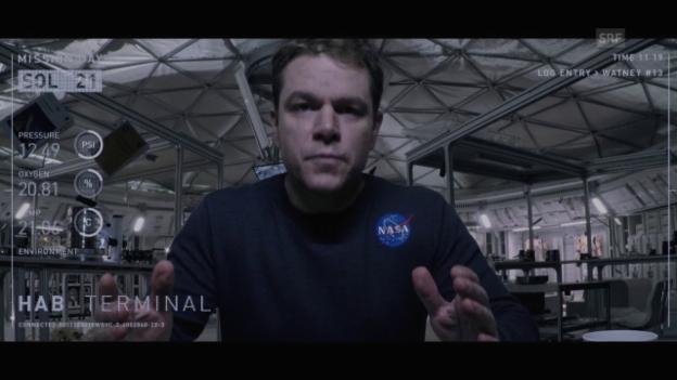 Video «Ausschnitt: Matt Damon realisiert seine missliche Lage» abspielen