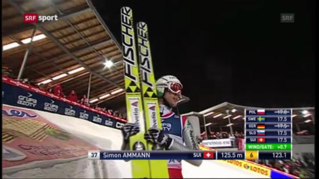 Video «Skispringen: Weltcup in Wisla» abspielen