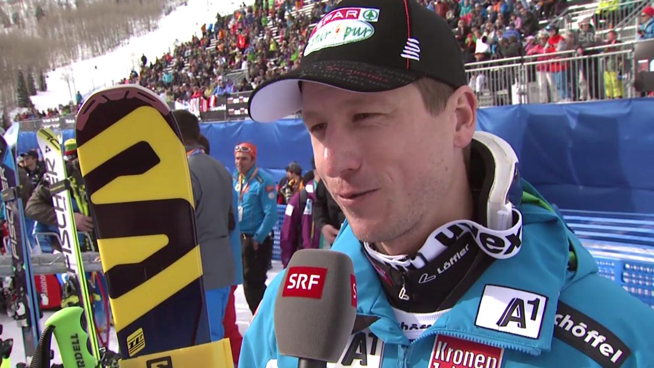Ski alpin: Weltcup in Beaver Creek, Super G, Hannes Reichelt im Interview