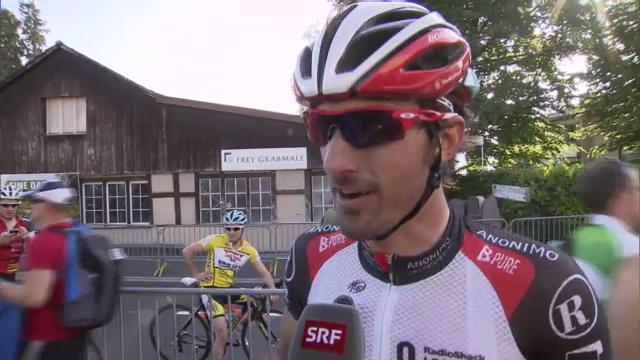Fabian Cancellara zum Sieg von Gregory Rast