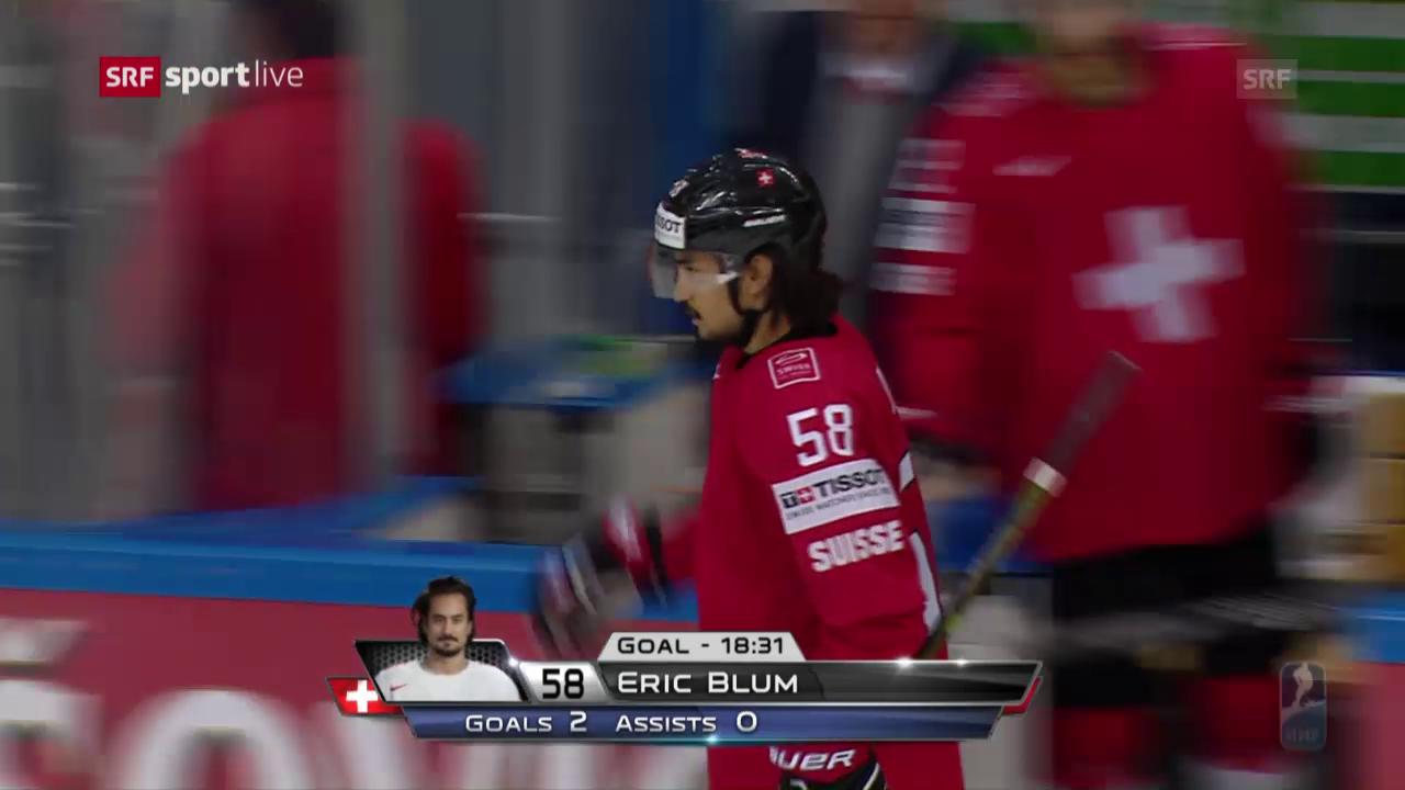Eric Blum schiesst die Schweiz zum Sieg