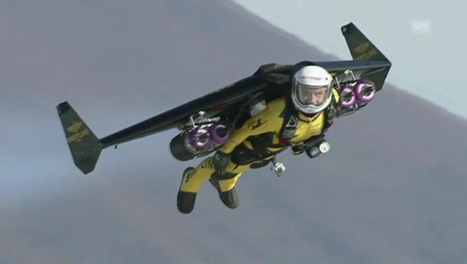«Jetman» fliegt einmal um den Fuji