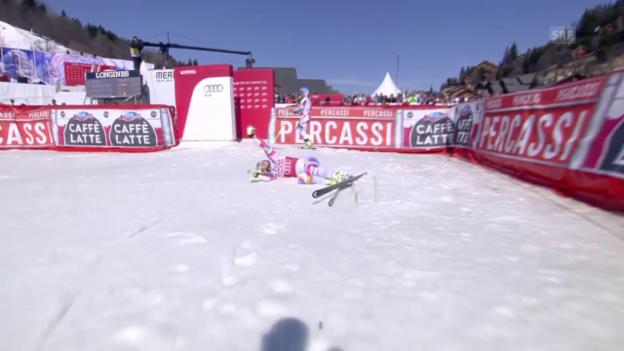 Video «Ski: Weltcup-Super-G in Méribel, Fahrt Vonn» abspielen