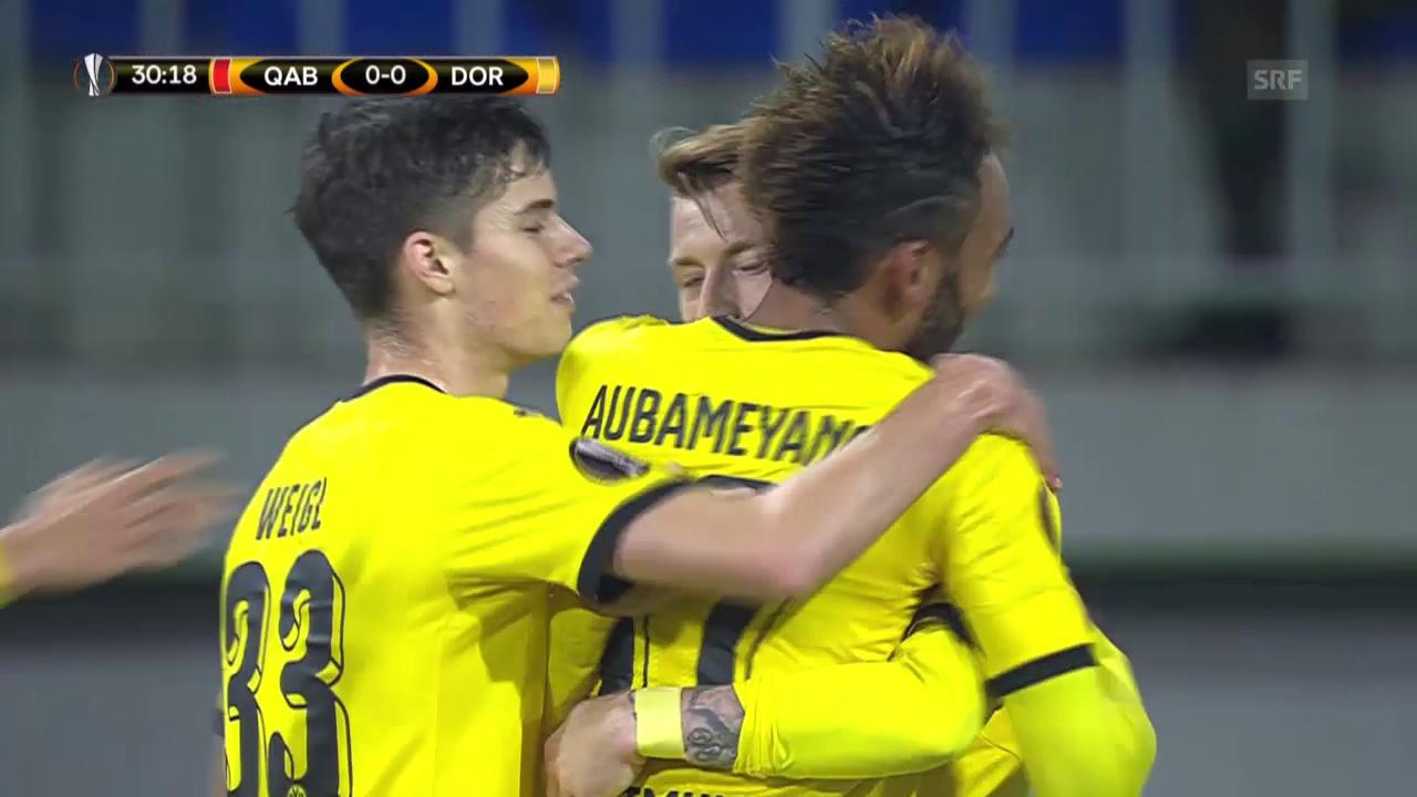 Fussball: Europa League, Zusammenfassung Qäbälä - Dortmund