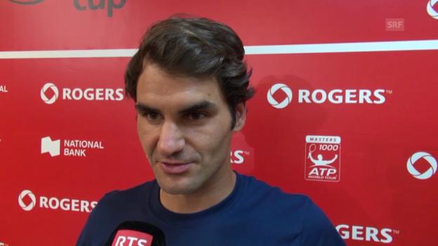 Video «Tennis: Federer zum Spiel gegen Cilic» abspielen