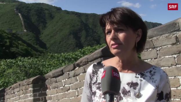 Video «Bundespräsidentin Leuthard im Reich der Mitte» abspielen