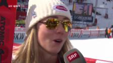 Link öffnet eine Lightbox. Video Shiffrin: «Ich bin froh, dass ich meine Gesamt-Weltcup-Führung verteidigen konnte» abspielen