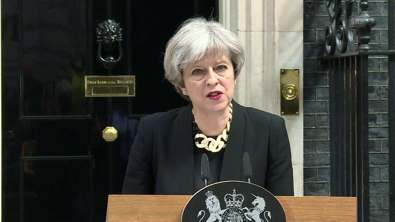 So äusserte sich Theresa May zum jüngsten Anschlag