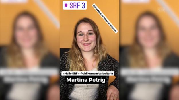 Video ««HalloSRF!»-Publikumsmitarbeiterin Martina Petrig bei Radio SRF 3» abspielen