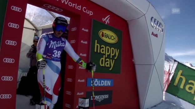 Video «Ski alpin: RS Sölden, 2. Lauf Holdener» abspielen