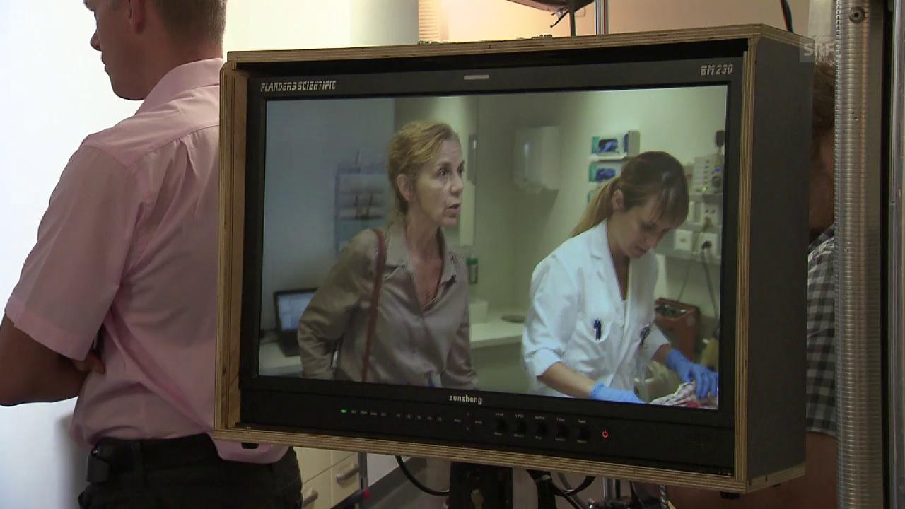 Filmen in einem echten Spital