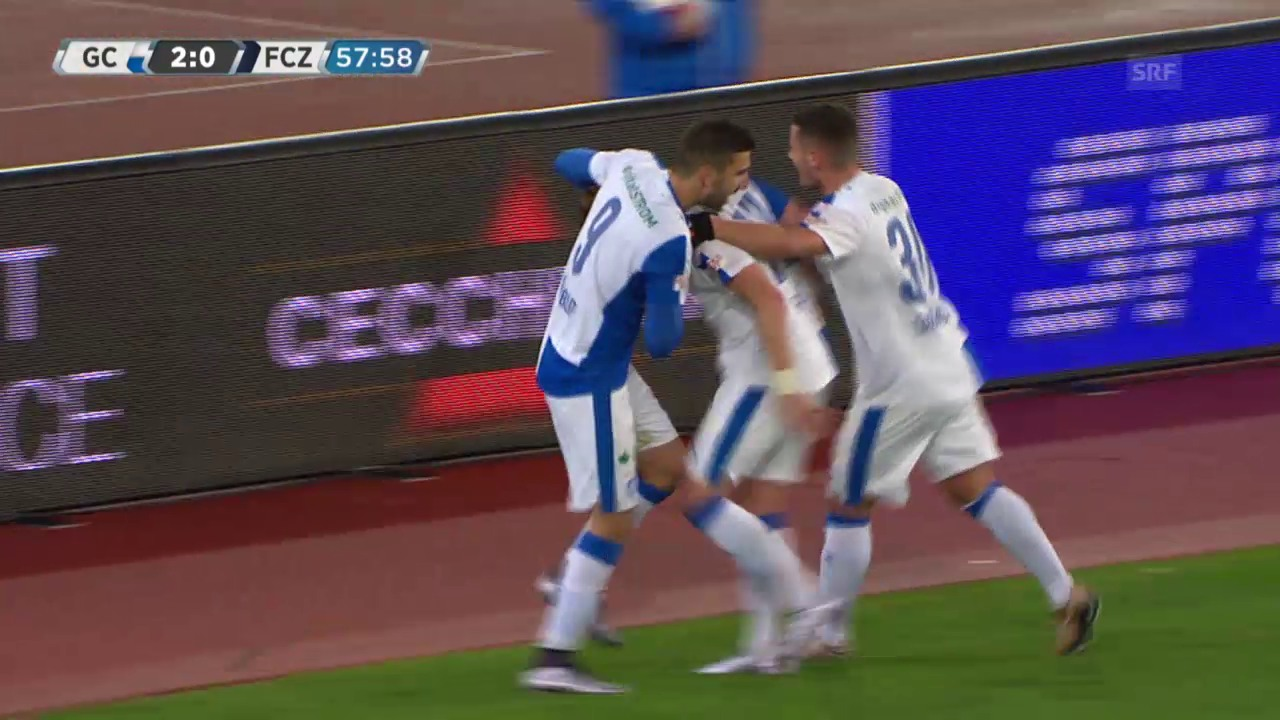 Fussball: Super League, 17. Runde, GC - Zürich, Ravet trifft zum 2:0