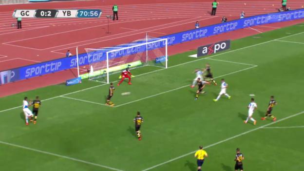 Video «Fussball: Super-Leauge, Rückrunde, GC-YB 1:2 Ravet» abspielen