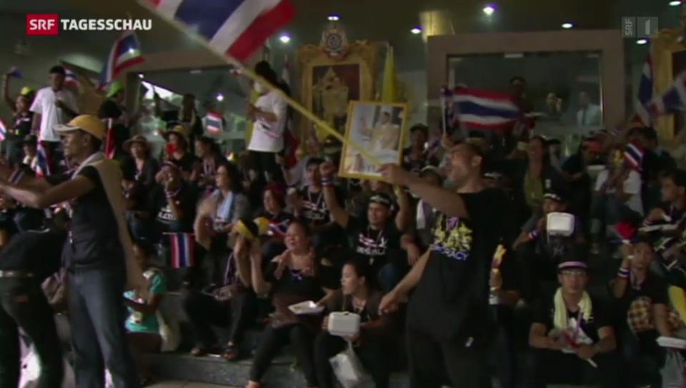 Massendemonstrationen gegen Regierung in Thailand
