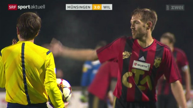 Video «Fussball: Schweizer Cup, Münsingen - Wil» abspielen