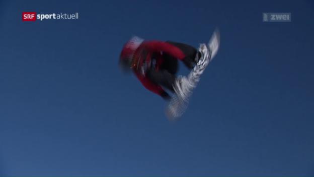 Video «Kanadas Slopestyler in Laax überragend» abspielen