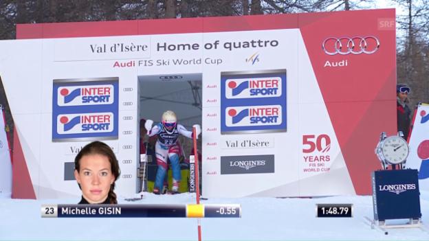 Video «Der furiose Slalomlauf von Michelle Gisin» abspielen