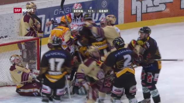 Video «Eishockey: Bern - Genf-Servette («sportaktuell»)» abspielen