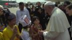 Video «Erster Papstbesuch in Burma» abspielen