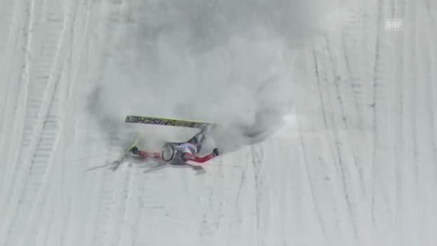 Video «Skispringen: Vierschanzentournee, Oberstdorf» abspielen