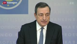 Video «Europäische Zentralbank senkt den Leitzins auf Rekordtief» abspielen
