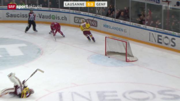 Video «Lausanne feiert Heimsieg gegen Genf» abspielen