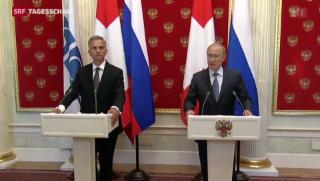 Video «Bundespräsident Burkhalter spricht mit Russlands Präsident Putin » abspielen