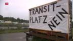 Video «Infoanlass über Transitplatz abgeblasen» abspielen