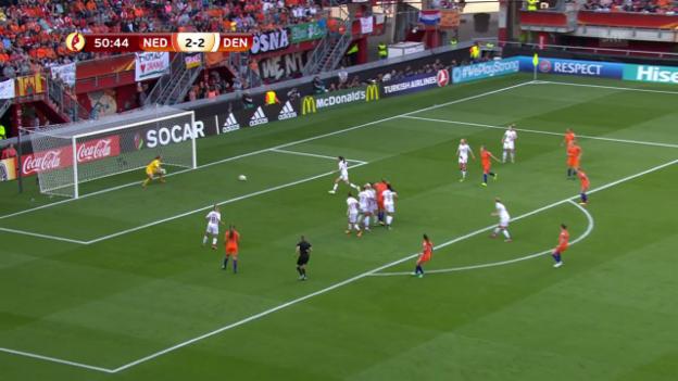 Video «Spitse erwischt die Torhüterin zum 3:2» abspielen