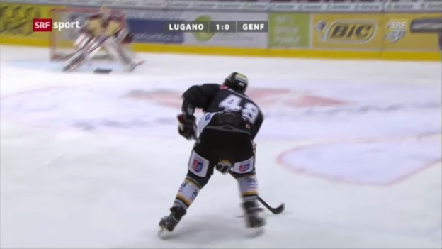 Video «Eishockey: Steiners letzter Treffer für Lugano» abspielen