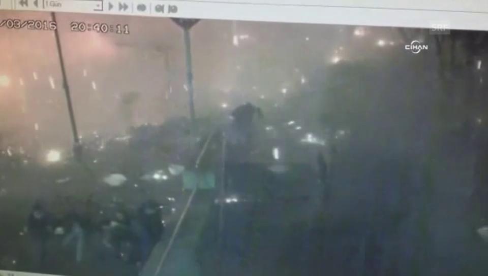 Der Moment der Explosion in Ankara (unkomm.)