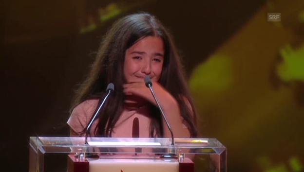 Video «Emotionale Preisübergabe an Nichte von Jafar Panahi» abspielen