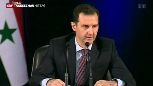 Video «Assad schliesst rasche Feuerpause aus» abspielen